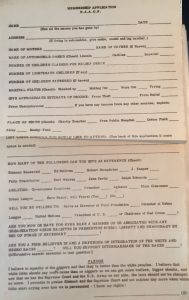 Mock NAACP Application